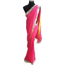 color designer neon pink designer saree buy designer sarees online san02518 ysk
