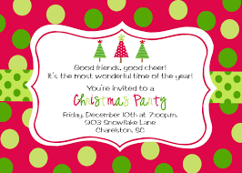Party Invitation Card Template Christmas Party Invitation Templates Kawaiitheo Com