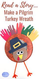 pilgrim turkey craft and story for preschoolers turkey craft
