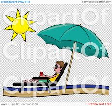 Lounge Chair Umbrella Royalty Free Rf Clipart Illustration Of A Stick Brunette Boy