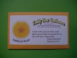 sunflower seed packets party favors seed packets