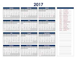 Excel Calendar Template 2017 Excel Calendar Template Free Printable Excel Templates