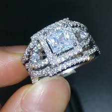 aliexpress buy 2ct brilliant simulate diamond men wedding rings cathedral style solitaire engagement ring