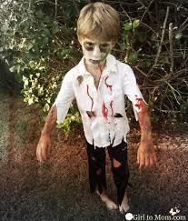Kids Halloween Zombie Makeup Easy Zombie Costume Diy To Mom