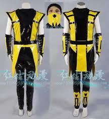 Mortal Kombat Scorpion Halloween Costume Buy Wholesale Mortal Kombat Costume China Mortal