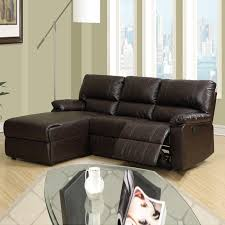 Leather Sectional Sofa Chaise by Best Of Small Leather Sectional Sofa With Homelegance Modern Small