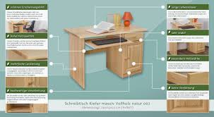 Schreibtisch Kiefer Schreibtisch Kiefer Massiv Vollholz Natur 002 Abmessung 74 X 115