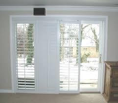 nifty plantation shutters for sliding glass doors on modern home