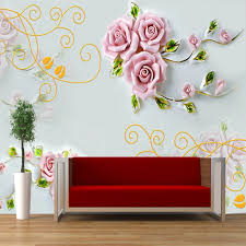 aliexpress com buy shinehome rose flower large custom wallpapers aliexpress com buy shinehome rose flower large custom wallpapers 3d wall murals contact paper home decor living room bedroom wallpaper roll size from