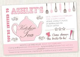kitchen tea invitation ideas kitchen tea teapot shower invitations bridal tea