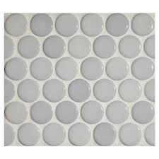 penny round mosaic dunhim gloss complete tile collection