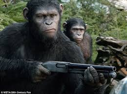 Ape Meme - new stills from dawn of the planet of the apes show primates with