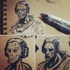 zombie astronaut sketch brown bag labs