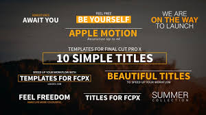 10 simple titles for final cut pro x youtube