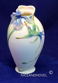 Franz Butterfly Vase Franz Porcelain Collection Long Tail Hummingbird U0026iris Flower