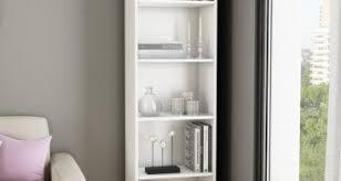 South Shore Axess Bookcase Mixed Material 4 Shelf Bookcase Brown Threshold Metals Carson 5