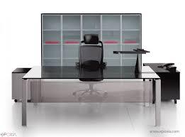 bureau de direction en verre bureau direction glider verre epoxia mobilier