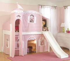 beautiful castle bunk beds with slide and stair combined diamond