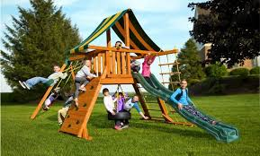 supremescape wooden swing set a best in backyards