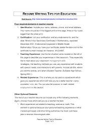 Teacher Experience In Resume How To Write Your Education On A Resume Samples Of Resumes