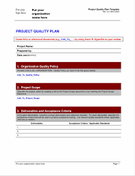 Best Resume For Quality Assurance by Manual Software Tester Sample Quality Assurance Plan Template