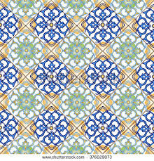 moroccan wrapping paper seamless patchwork pattern moroccan portuguese tiles stock vector