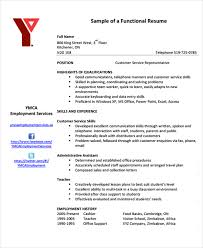 Sample Functional Resume Pdf by 10 Functional Curriculum Vitae Templates Word Pdf Free