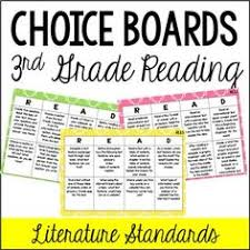 common core reading choice boards informational 3rd grade