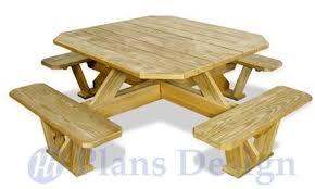 Free Wood Picnic Bench Plans by Traditional Round Picnic Table With Benches Out Door Furniture