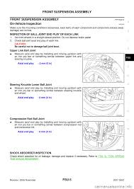 nissan pathfinder ball joint replacement nissan 350z 2007 z33 front suspension workshop manual
