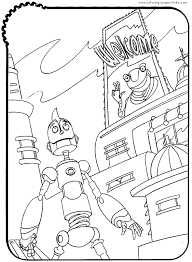 robots color coloring pages kids cartoon characters