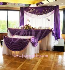 small backdrop u2013 matching drapery styles for head and cake