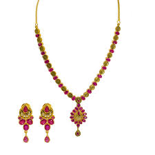 yellow gold necklace sets images 22k yellow gold necklace earrings set w ruby rose coins jpg
