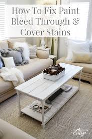 how to fix paint bleed through and cover stains