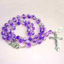 purple rosary rosary with engraving purple jewels 4