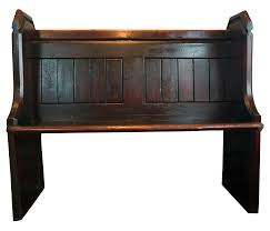 victorian church pew bench chairish