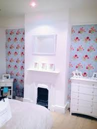 Entryway In English Home With Cath Kidston Wallpaper Pretty - Cath kidston bedroom ideas