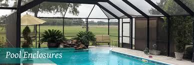 enclosed pool pool patio enclosures trademark home exteriors