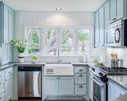 light blue cabinets houzz