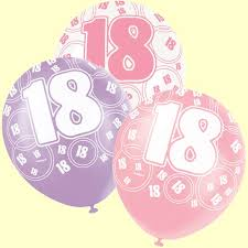 balloons for 18th birthday 18th birthday balloons pink and silver pack of 6 party wizard