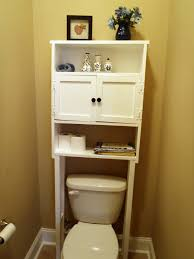 Simple Bathroom Space Saver Over Toilet White With  Shelves For - Simple bathroom designs 2