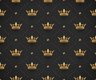 black king wallpaper seamless vector black pattern with king crowns stock vector
