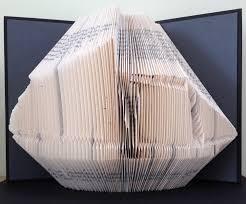 sailing boat book folding pattern diy gift for book art