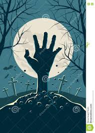 zombie halloween invitations zombie hand breaking out from under the ground stock vector