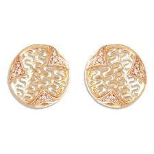 gold diamond stud earrings buy tanishq 14 kt gold metal stud earring diamond studded