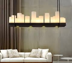 Wrought Iron Pendant Light Aiwen Ceiling Lighting Rectangular Wrought Iron Chandelier Candle