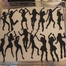 party silhouette 80s dance party cake cakecentral com