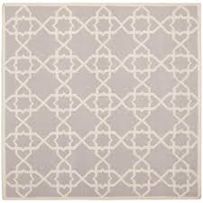 safavieh dhurries grey ivory 6 ft x 6 ft square area rug dhu548g