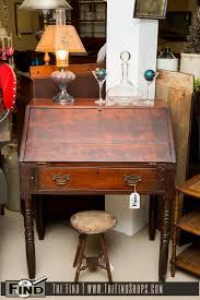 Drop Front Secretary Desk by Antique Prim Drop Front Secretary Desk The Find Shops