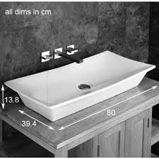 wide basin bathroom sink stunning rectangular design capri counter cabinet top basin large
